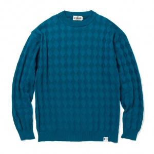Links diamond stitch crew neck knit sweater