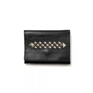 Studs leather mini wallet