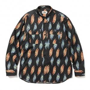 Fallen leaves pattern L/S shirt