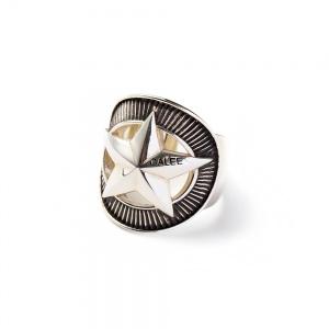 Silver star concho ring
