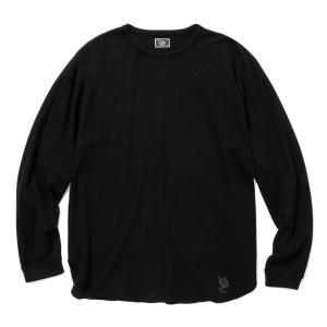 Pique jacquard L/S base ball t-shirt