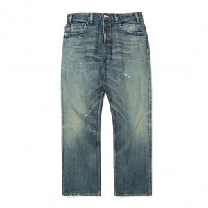 Vintage reproduct boots cut used denim pants