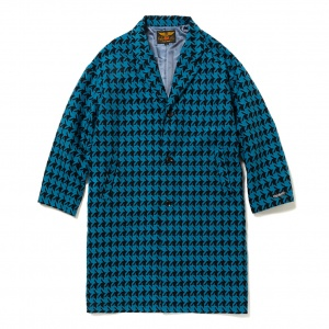 Hound tooth pattern chester coat