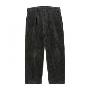 Corduroy two tuck trousers