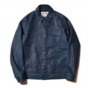 Sheepskin shirt jacket